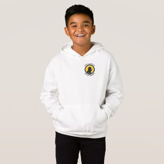 Fleece Pullover Hoodie: Read Smart Caveman