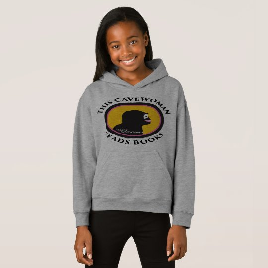 Fleece Pullover Hoodie: Read Smart Cavewoman