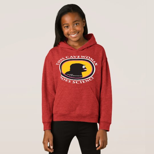 Fleece Pullover Hoodie: Science Smart Cavewoman