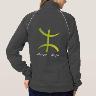 Fleece track jacket for women