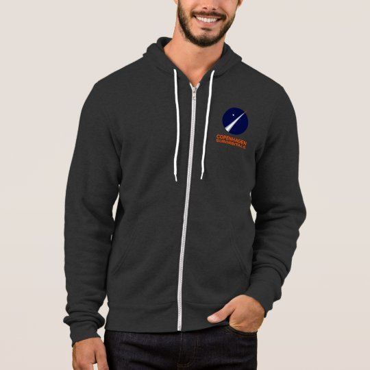 Fleece Zip Hoodie With Copenhagen Suborbitals Logo