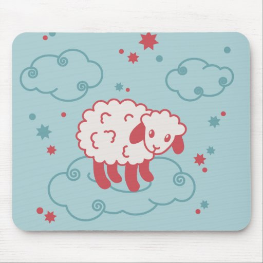 fleecy clouds mouse pad