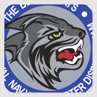 Fleet Air arm Patch The Black Cats Display Team 70 Square Sticker