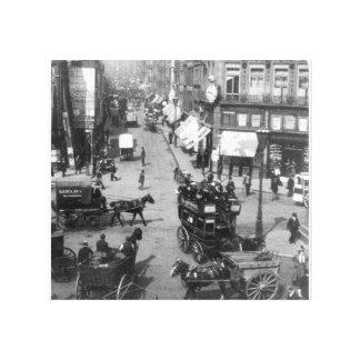 Fleet Street London, Vintage England print Stretched Canvas Print