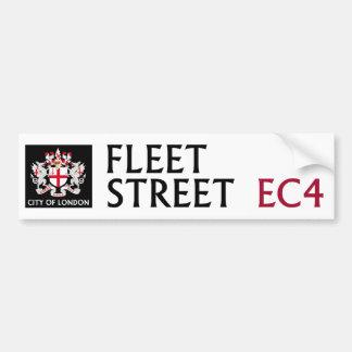 Fleet Street Sign Bumper Sticker