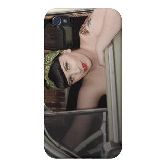 Fleetline Hot Rod Pin Up Girl Betty iPhone 4 Case