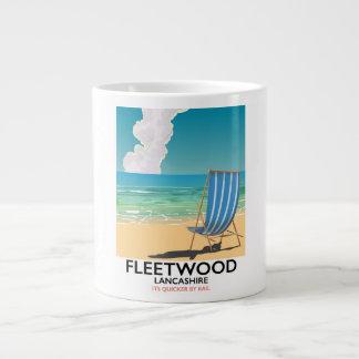 Fleetwood , Lancashire Seaside travel poster Large Coffee Mug