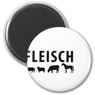 Fleisch icon 6 cm round magnet