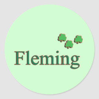 Fleming Family Round Sticker