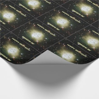 Fleming nebula custom name and text astronomy wrapping paper