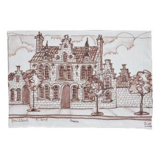 Flemish Architecture | Bailleul, France Pillowcase
