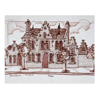 Flemish Architecture | Bailleul, France Postcard