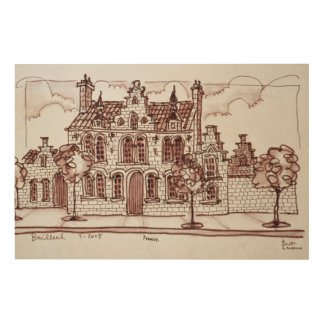 Flemish Architecture | Bailleul, France Wood Wall Art