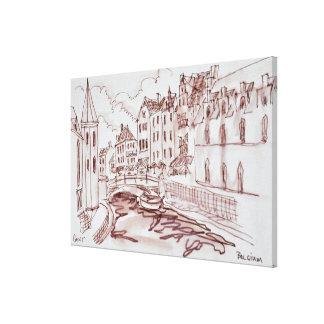 Flemish Architecture | Ghent, Belgium Canvas Print