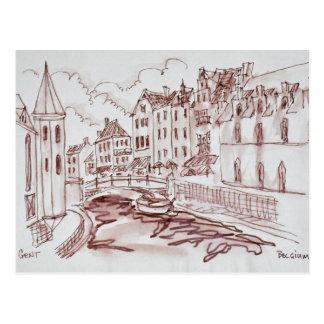 Flemish Architecture | Ghent, Belgium Postcard