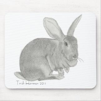 Flemish Giant Rabbit Sketch Mouse Mat