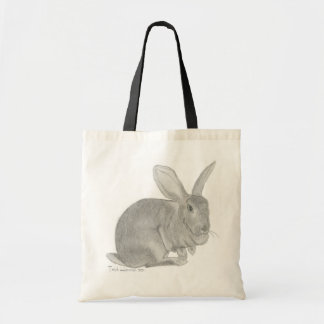 Flemish Giant Rabbit Sketch Tote Bag