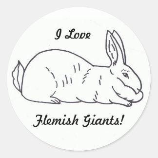 Flemish Giant Rabbit Sticker