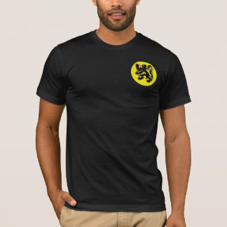 Flemish lion of Flanders black t-shirt small i