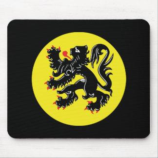 Flemish lion of Flanders mousepad