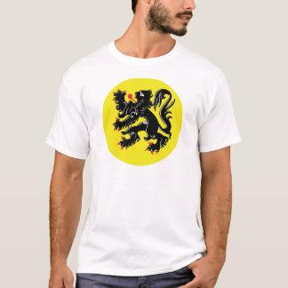 Flemish lion of Flanders t-shirt large badge