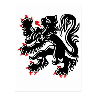 Flemish Lion. Postcard