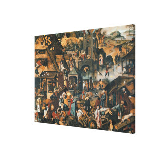 Flemish Proverbs Canvas Print