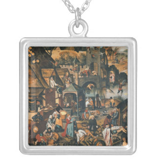Flemish Proverbs Silver Plated Necklace