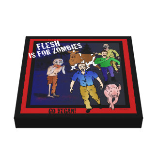 Flesh is for Zombies! Cool Canvas print