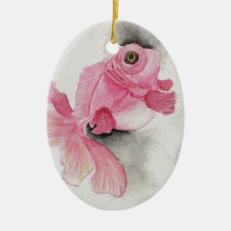 Flesh Moor - Pink Goldfish Watercolor Painting Ornament