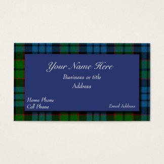 Fletcher Scottish Tartan Plaid Business Card