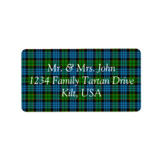 Fletcher Tartan Label Address Label