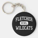 Fletcher - Wildcats - High - Fletcher Oklahoma Key Chains
