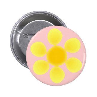Fleur 6 Cm Round Badge