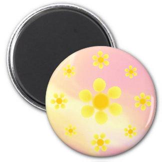 Fleur 6 Cm Round Magnet