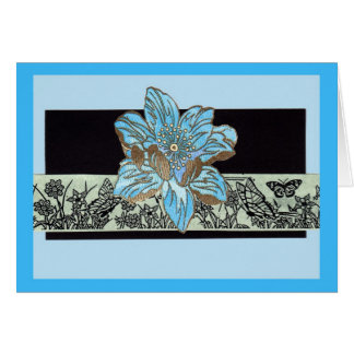 Fleur Bleu Card