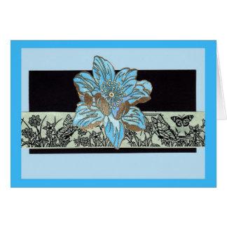 Fleur Bleu Greeting Card