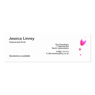Fleur Pack Of Skinny Business Cards