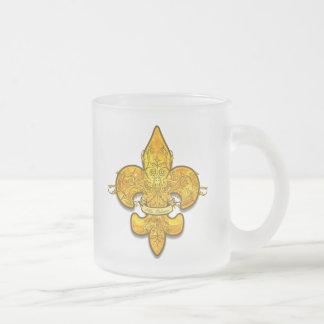 Fleur de Guardian Frosted Glass Mug