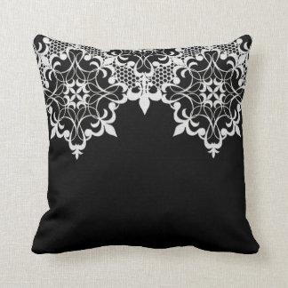 Fleur De Lace Black Pillow