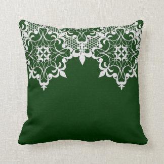 Fleur De Lace Green Pillow