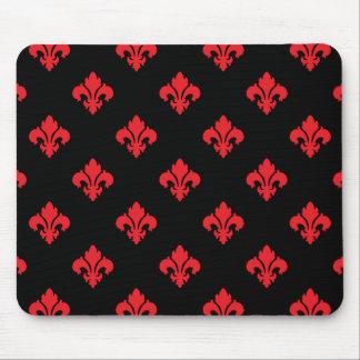 Fleur De Lis 1 Red Mousepads
