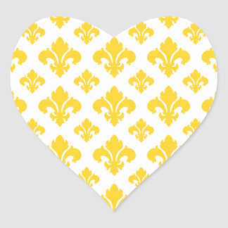 Fleur De Lis 2 Freesia Heart Sticker