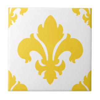 Fleur De Lis 2 Freesia Ceramic Tile