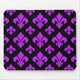 Fleur De Lis 2 Purple Mouse Pads