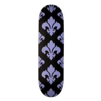 Fleur De Lis 2 Violet Tulip Skateboard Deck