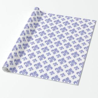 Fleur De Lis 2 Violet Tulip Wrapping Paper