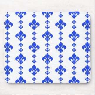 Fleur De Lis 3 Blue Mousepads