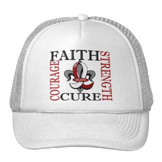 Fleur De Lis 3 Head Neck Cancer Mesh Hats