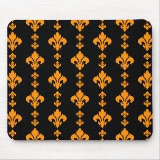 Fleur De Lis 3 Orange Mouse Pad